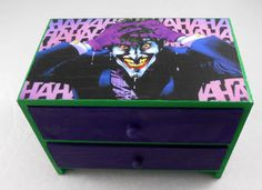 Joker Green and Purple Stash Jewelry Box by pzcreations22 on Etsy, $26.50