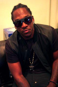 Rapper: Pusha-T in the Caravagio Matte Black 'Visionario' Sunglasses