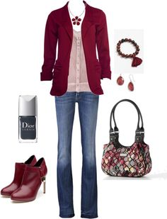 """cranberry"" by kristen-344 ❤ liked on Polyvore"