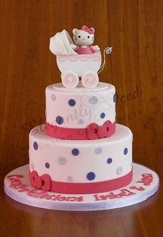 hello kitty baby shower cake