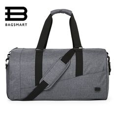 Cheap bag large capacity, Buy Quality weekend bag directly from China travel bag Suppliers: BAGSMART Men Travel Bag Large Capacity Carry on Luggage Bag Nylon Travel Duffle Shoe Pocket Overnight Weekend Bags Travel Tote Bags Travel, Mens Travel Bag, Duffle Bag Travel, Duffel Bags, Carry On Luggage, Luggage Bags, Large Luggage, Luggage Shop, Weekender