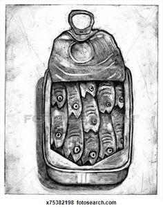 emballé sardines Voir Illustration Grand Format