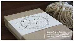 Flourish & Whim website.  Beautiful, whimsical hand-lettering design for all occasions.