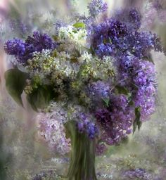 Lilacs Of Love Mixed Media by Carol Cavalaris - Lilacs Of Love Fine Art Prints and Posters for Sale