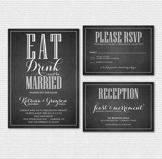 Printable Wedding Invitation Set  Rustic by BelleHanahPaperie
