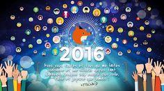 Le visuel des vœux de l'Atelier, pour l'année 2016 !