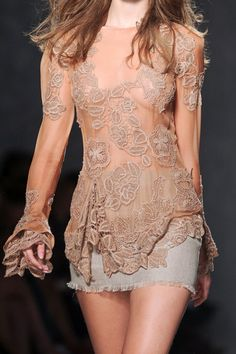 beige lace dress love the cuffs