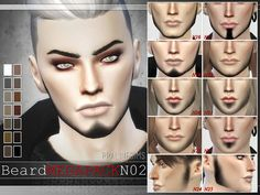 10 Beards Megapack 2.0 by Pralinesims at TSR via Sims 4 Updates