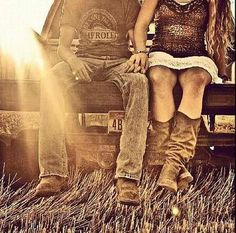 young love, cowboy boots and a pickup truck - life does not get much better