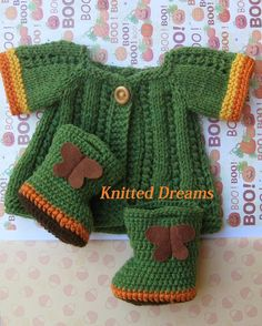 Waldorf doll knitted clothes