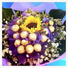 Sunflower with Ferrero Rochers