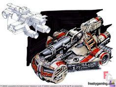 Star Wars Galactic Battlegrounds heavy weapon vehicle concept art