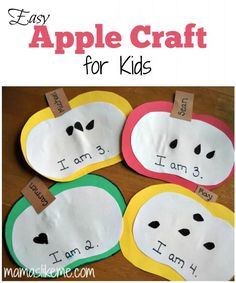 {Mamas Like Me} - Easy Apple Craft for Kids #Fall #preschool