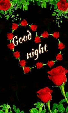 good night with flowers good night love heart graphic szÉp estÉt