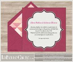 Designer online wedding invitations: Celebrate in style with LaBelleCarte at www.LaBelleCarte.com  Invitaciones de boda virtuales muy originales: Celebra con estilo con las invitaciones de diseño de LaBelleCarte. Puedes ver más en: www.LaBelleCarte.com