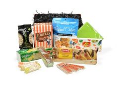 Kosher Snack Basket - Can be shipped across Canada | Whish.ca Kosher Snacks, Gift Baskets, Canada, Canning, Gifts, Sympathy Gift Baskets, Favors, Home Canning, Presents