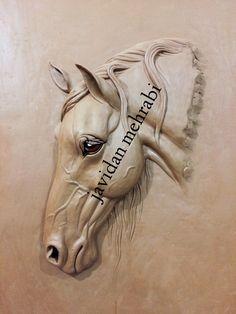 Sculpture Painting, Pottery Sculpture, Horse Sculpture, Sculpture Clay, Anatomy Sculpture, Cement Art, Wood Carving Designs, Horse Art, Horse Head