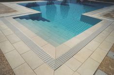 Porcelain tiles for outdoor swimming pools. Outdoor Swimming Pool, Swimming Pools, Outdoor Tiles, Outdoor Decor, Wall And Floor Tiles, Stoneware, Bamboo, Indoor, Porcelain Tiles