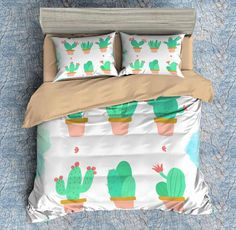 3D Customize Cactus Bedding Set Duvet Cover Set Bedroom Set Bedlinen 1)100% Microfiber,Soft and Comfortable.  2)Environmental Dyeing,Never Lose Color.  3)2017 Newest Design,Cactus,Fashion and Personality.