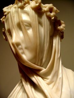 The Veiled Lady, Raffaelo Monti-- I never tire of looking at it!  How did he make rock look as if it were soft as silk!