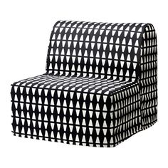 IKEA LYCKSELE HÅVET Chair-bed Ebbarp black/white Use your space at home more efficiently with an armchair that doubles as a bed at night.