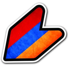"ARMENIA - 4"" Armenian Flag Grungy JDM Wakaba Shoshinsha Mark New Driver Badge Leaf Sign Car Bumper Stickers Decals Adelia Co http://www.amazon.com/dp/B016HCPDK6/ref=cm_sw_r_pi_dp_Wfohwb18TPHJ5"