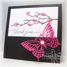 FS306 Cherry Blossom Thanks by bfinlay - Cards and Paper Crafts at Splitcoaststampers