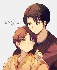 Levi and little Eren :) | SnK