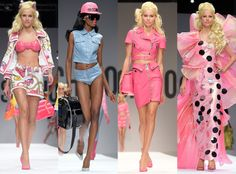 My old Barbie wishlist catalog/posters just came to life and I am loving every glamorous moment of it!  Moschino - Spring '15
