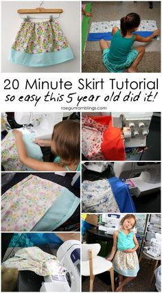 My go to skirt tutorial great for teaching new sew-ers.  Fast tutorial for DIY skirt even kids can do.