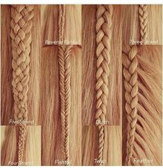 Different types of braids you can try