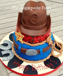 Cowboy Cake by Sugarpaste Fairy