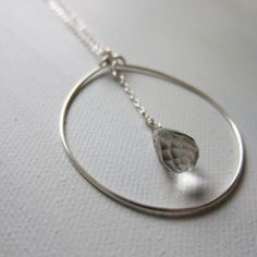 Silver Drop Necklace by Mai Autumn I Love Jewelry, Diy Jewelry, Jewelery, Silver Jewelry, Jewelry Necklaces, Jewelry Design, Jewelry Making, Jewelry Ideas, Sterling Jewelry