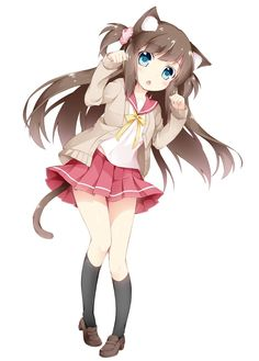 ((Open RP I'm the Neko, be her friend. Any gender.)) - I hum quietly as I… Manga Anime Girl, Anime Girl Cute, Kawaii Anime Girl, Anime Girls, Neko Kawaii, Loli Kawaii, Lolis Anime, Anime Chibi, Chica Gato Neko Anime