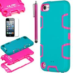 Pandamimi ULAK(TM) Full Protection Hybrid 3 Layer Silicone Armor Hard Inner Case Cover for iPod Touch Generation 5 with Screen Protector and Stylus (Blue & Rose Pink--silicone outter shell) ULAK,http://www.amazon.com/dp/B00GH75OEW/ref=cm_sw_r_pi_dp_ZQQIsb0JQ2GWV7ZQ