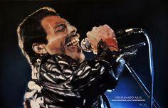 Freddie Mercuryby RoxanaBO Arts https://www.facebook.com/roxanaboarts #freddiemercury #queen #queen #Queen #Mercury #artist #singer #RoxanaBO Arts #roxanaboarts #hiperrealismo #makeup #art #arte #retrato #portrait