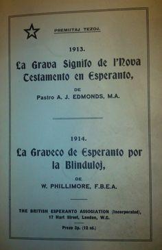 Cover of La Graveco de Esperanto por la Blinduloj by W.Phillimore. - See more at: http://britishlibrary.typepad.co.uk/european/esperanto/#sthash.fnUAmOf0.dpuf