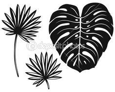 ensemble de feuilles de palmier — Illustration #27386957