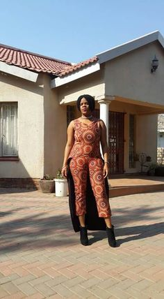 African cloth jumpsuit