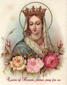 Hail Mary - Beautiful holy card for May, Mary's month.