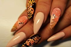 If you are seeking for a bold and daring look, stiletto nails are for you. Stiletto nail trend is hard to ignore, especially with celebrities like Lana Del Rey, Rihanna and Kylie Jenner rocking the… Nail Trends, Stiletto Nails, Nail Designs, Creative, Nail Design, Edgy Nails, Nail Art Ideas