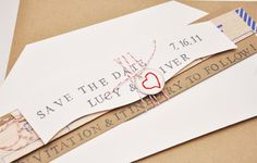 balsa wood destination wedding save the date
