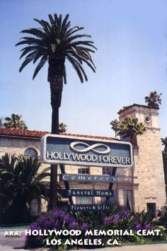 Hollywood Forever in Hollywood, California - Find A Grave Cemetery Hollywood Cemetery, Hollywood Forever Cemetery, In Hollywood, Hollywood California, Florence Lawrence, Norma Talmadge, Eleanor Powell, Janet Gaynor, Marion Davies