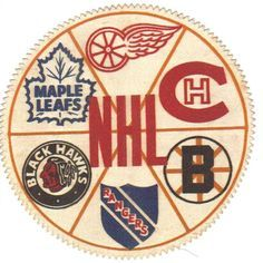The Original Going in a clockwise pattern. Detroit Red Wings, Montreal Canadiens Boston Bruins New York Rangers Chicago Black Hawks Toronto Maple Leafs Rangers Hockey, Blackhawks Hockey, Chicago Blackhawks, Hockey Goalie, Montreal Canadiens, Original Six, Hockey Room, Hockey Decor, Hockey Baby