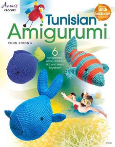 Combine Tunisian crochet with Amigurumi's and you've got a winning pattern book! This book includes 6 designs - a Whale, Tropical Fish, Tropical bird, Regal Blue Fish, Elephant, and Giraffe. Each toy