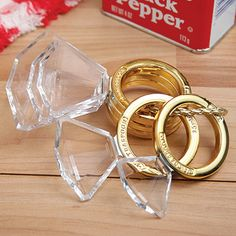 Okay these are just too cute not to share. These diamond ring measuring spoons would make an adorable addition to any kitchen. Not to mention a perfect shower gift for a bride-to-be who loves to cook.