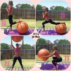 Leg work on the ball #stayatfitmom #fitness