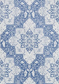 TARRAGON, Blue, T64121, Collection Caravan from Thibaut