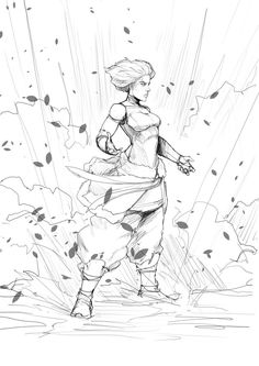 Korra Power2 by Sketchydeez