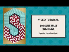 Quick and easy hexagon block with 60 degree ruler video tutorial   Sewn Up